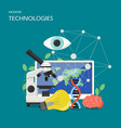 new technologies flat style design vector image