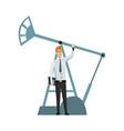 oil petroleum industry engineer or oilman vector image