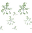 palm tree pattern-02 vector image vector image