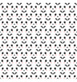 panda pattern of heads decoration design 2d style vector image