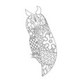 patterned owl zentangle style vector image
