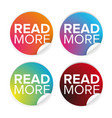 read more button set label vector image vector image