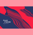 red and blue optical fluid wave duotone geometric vector image vector image