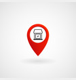 red location icon for store eps file vector image