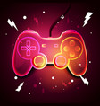 red neon color game controller vector image vector image