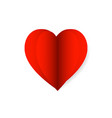 red paper heart icon vector image
