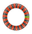 roulette casino wheel template with zero on white vector image