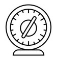 round timer icon outline style vector image