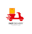 scooter delivery services logo design courier vector image vector image