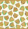 set of color tortilla or sandwich tacos food vector image vector image