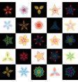 set of design elements flowers vector image vector image