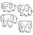 set of elephant vector image vector image