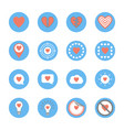 several style of heart icons set vector image vector image