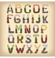 Sketch alphabet font colored vector image vector image