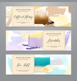 soap packaging realistic banners set vector image vector image