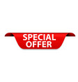 special offer red label vector image