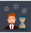time management design vector image