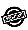 wisconsin rubber stamp vector image vector image