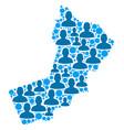 yemen map population demographics vector image vector image
