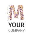 Alphabet particles logotype Letter-M vector image