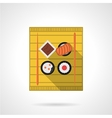 Sushi set flat color icon vector image