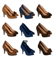 high heeled shoes vector image