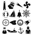 Nautical icons set vector image
