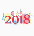 2018 new years background in memphis style vector image vector image