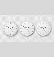 3d realistic white wall office clock dial