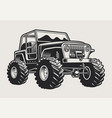 a off road suv car vector image