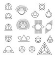 abstract geometric tattoo set on white background vector image
