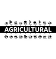 agricultural vehicles minimal infographic banner vector image