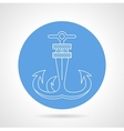 Anchor round icon vector image vector image
