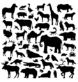 Animals Suilhouette Big Set vector image vector image