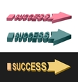 Arrows success vector image vector image