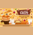 bakery banner for pastry products or confectionery vector image