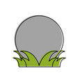 ball on grass golf related icon image vector image vector image
