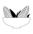 bowl with corn fresh vector image