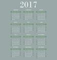 calendar for 2017 vector image vector image