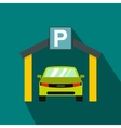 Car parking icon in flat style vector image vector image