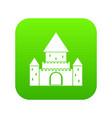chillon castle switzerland icon digital green vector image vector image