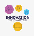 computer technology data cloud storage innovation vector image