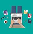 desktop freelance programmer or coder vector image
