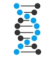 Dna Spiral Icon vector image vector image
