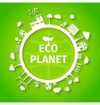 Eco planet background poster vector image vector image
