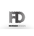 fd f d lines letter design with creative elegant vector image vector image
