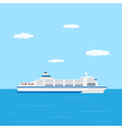 ferry boat vector image