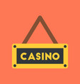 flat icon on background poker casino sign vector image vector image
