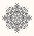 floral mandala decorative round ornament vector image vector image