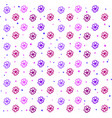 flowers wallpaper on white background vector image vector image